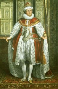 King James trying to look dashing and royal (1620), by Paul van Somer (1577 - 1621)