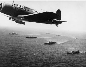 WWII convoys even had airplanes as part of their escorts