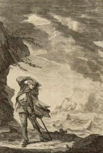 Nope, no oil portraits of Ned Low for some reason. Instead we have this engraving, which you would think is symbolic of what Ned did to commerce, but is really about an actual incident when a  storm almost sank his ship