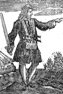 Vane in a period engraving, probably by an artist who never saw the man