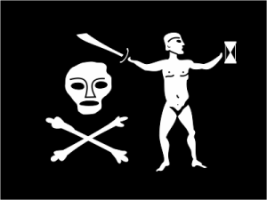 There were many variations of the Jolly Roger; here is Walter Kennedy's