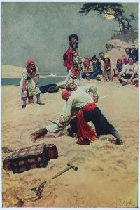 Howard Pyle did a LOT of pictures about pirates, as well as writing about them
