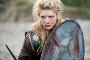 I should be putting a picture of Rollo here, but I don't care about him. Instead, here's the improbable warrior Lagertha, who's also Ragnar's first wife