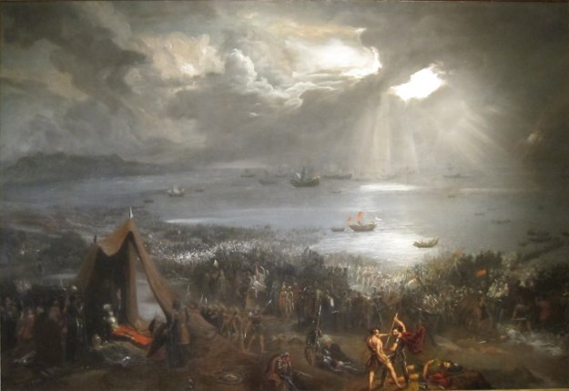 The Battle of Clontarf, painted in 1826 by Hugh Frazer (1795 - 1865)