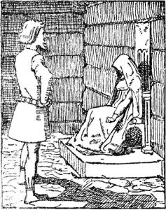 Gunnhild is informed of Erik's death, as imagined in 1899