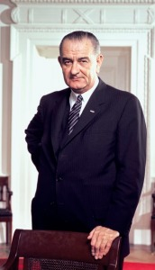 The first President to need 270 electoral votes: LBJ. (He got 486.)
