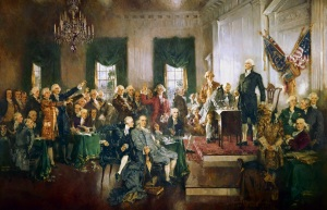"""Scene at the Signing of the Constitution of the United States"" by Howard Chandler Christy (1873-1952)"