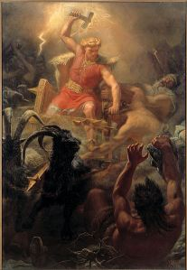 Thor doing what he does best (By Marten Eskil Winge (1825-1896), 1872)