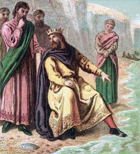 Canute was so great that some sycophants thought he could stop the tides!