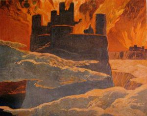 Ragnarok: the world is being destroyed by fire (By Emil Doepler (1855-1922), c. 1905)