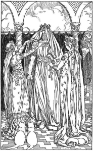 Doesn't Thor look pretty as a bride? (By E. Boyd Smith (1860-1943), 1902)