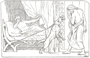 Odin's not going to get his way this time! (By Lorenz Frolich (1820-1908), 1895