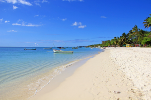 A beach on Mauritius (Credit: Wikipedia/Romeodesign)